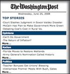 The Washington post shortcut